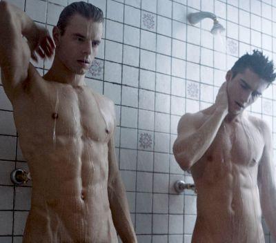 Straight shower Nude gym